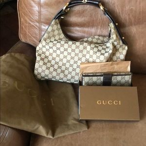 EUC Gucci Horsebit Hobo & Wallet Package DEAL!